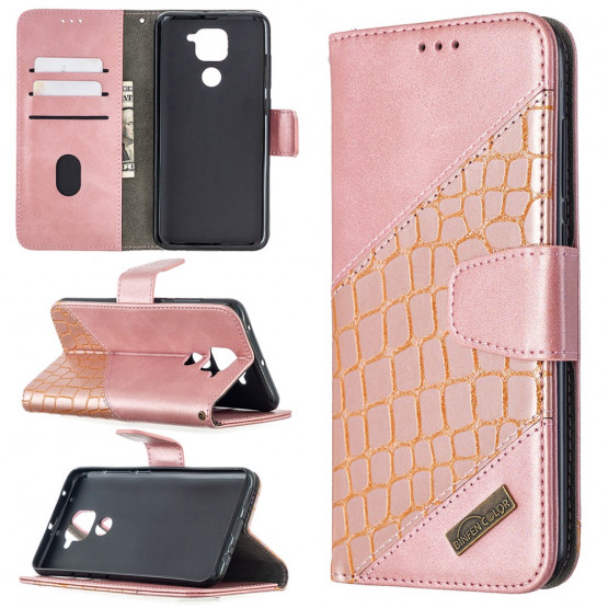BINFEN CROCODILE ROSE GOLD ETUI ZA XIAOMI READMI NOTE 9