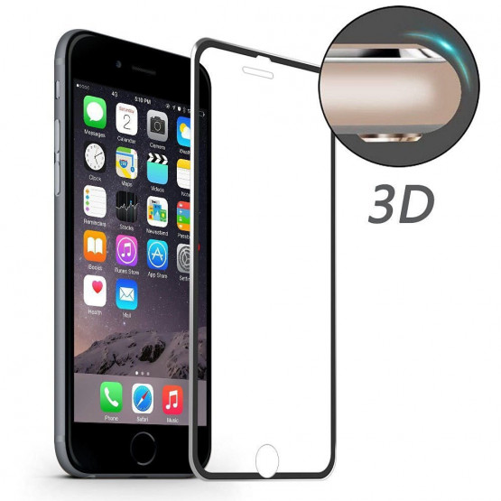 IPHONE 7 / IPHONE 8 ALU-EDGE KALJENO STEKLO FIT S POTISKOM ČRN (0,20MM)
