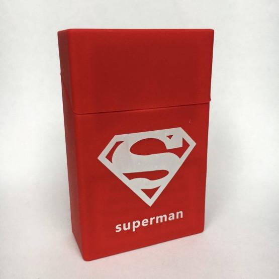 SUPERMAN RDEČ - ETUI ZA CIGARETNE ŠKATLICE