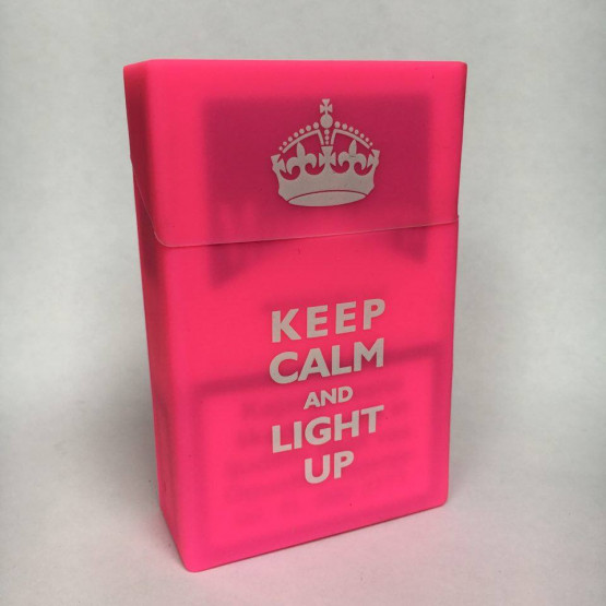 KEEP CALM AND LIGHT UP ROZA - ETUI ZA CIGARETNE ŠKATLICE