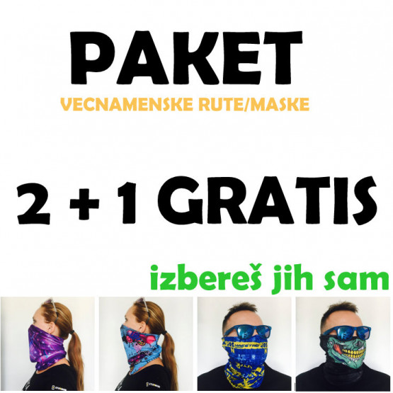 2 + 1 GRATIS VEČNAMENSKA RUTA / MASKA