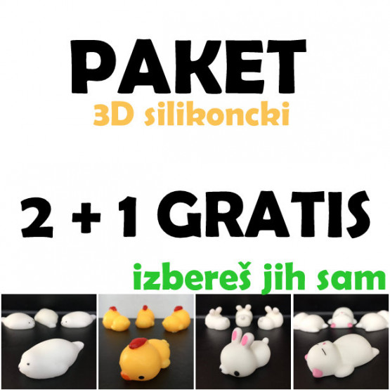2 + 1 GRATIS 3D SILIKONČKI