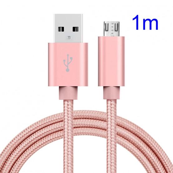 1M MIKRO USB POLNILNO PODATKOVNI UNIVERZALNI KABEL ROZA