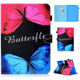 PINK AND BLUE BUTTERFLY - IPAD AIR / IPAD AIR 2 / IPAD 9,7' (2017) / IPAD 9,7' (2018)