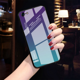 GLASS BE YOURSELF TWILIGHT PURPLE/MINT OVITEK ZA APPLE IPHONE 7 / IPHONE 8