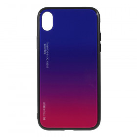 GLASS BE YOURSELF TWILIGHT BLUE/PURPLE OVITEK ZA IPHONE XR