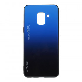 GLASS BE YOURSELF TWILIGHT BLACK/BLUE OVITEK ZA SAMSUNG GALAXY A8 (2018)