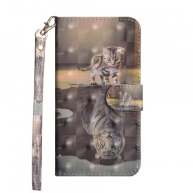 REALISTIC CAT TIGER - HUAWEI P SMART / ENJOY 7S