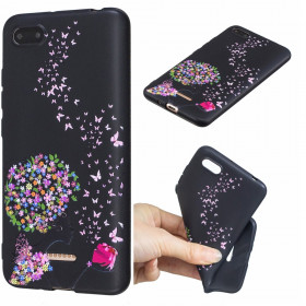 SLIM BLACK FLOWER LADY - XIAOMI REDMI 6A