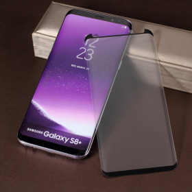 SAMSUNG GALAXY S8 PLUS KALJENO STEKLO FIT S POTISKOM ČRN - CASE FRIENDLY