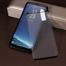 SAMSUNG GALAXY S8 KALJENO STEKLO FIT S POTISKOM ČRN - CASE FRIENDLY