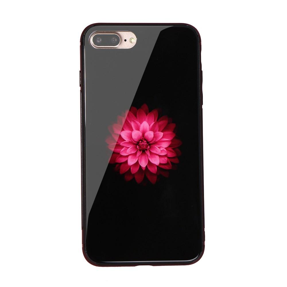 GLASS APPLE LOTUS FLOWER - APPLE IPHONE 7 PLUS / IPHONE 8 PLUS