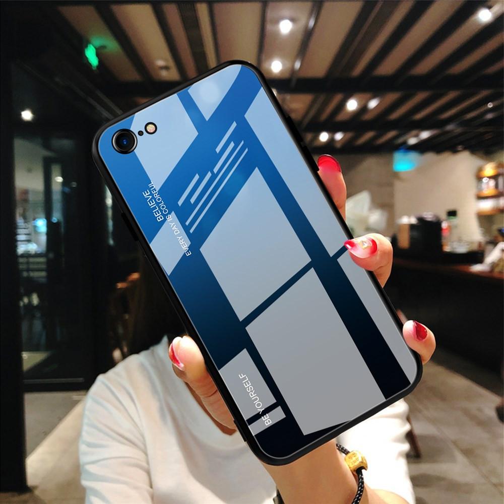 GLASS BE YOURSELF BLACK/BLUE OVITEK ZA APPLE IPHONE 7 / IPHONE 8