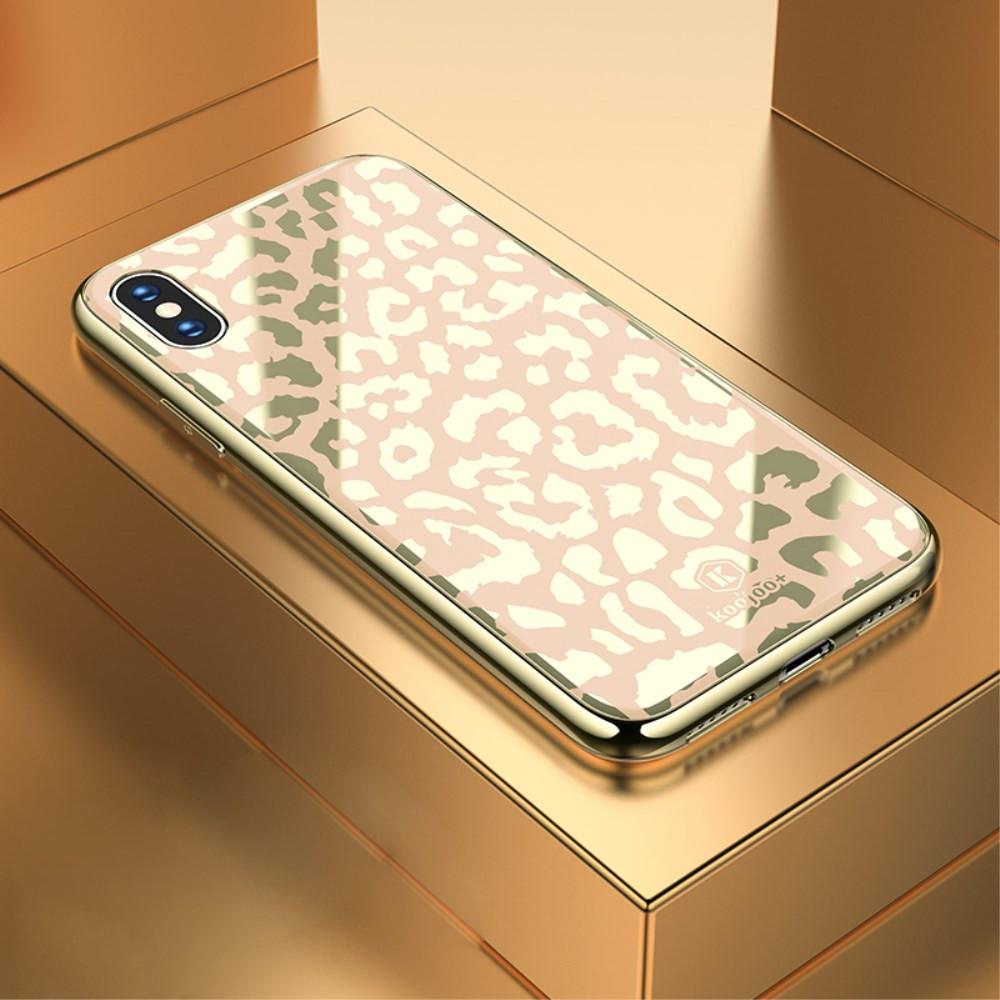 GLASS DIVJI LEOPARD ZLAT OVITEK ZA APPLE IPHONE XS MAX
