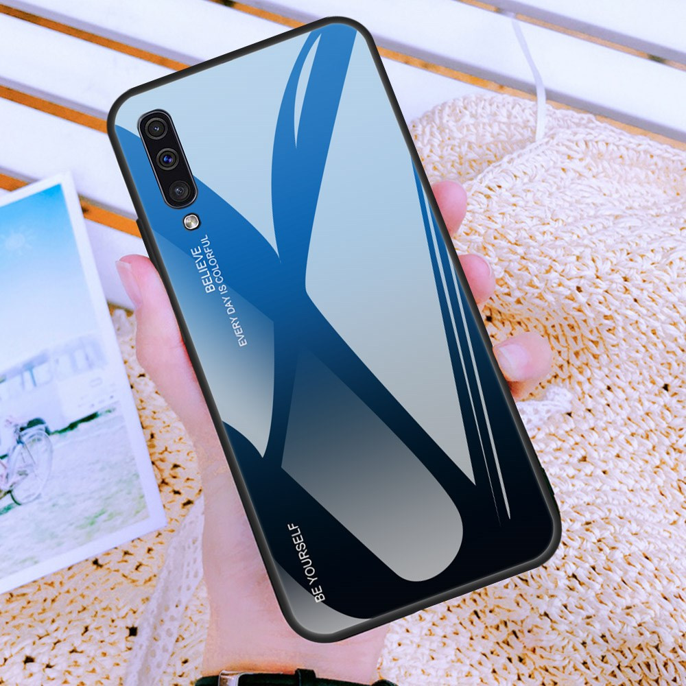 GLASS BE YOURSELF BLACK/BLUE OVITEK ZA SAMSUNG GALAXY A50 / A30S