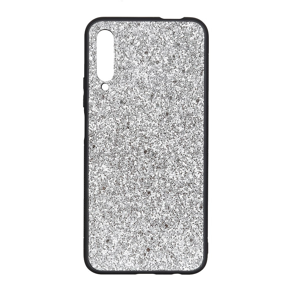 SLIM GLITTER LEATHER SREBRN OVITEK ZA HUAWEI P SMART PRO (2019)