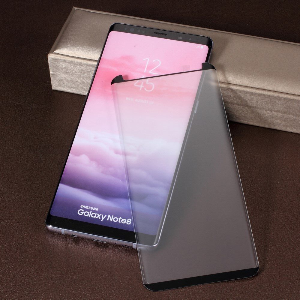 SAMSUNG GALAXY NOTE 8 KALJENO STEKLO FIT S POTISKOM ČRN - CASE FRIENDLY