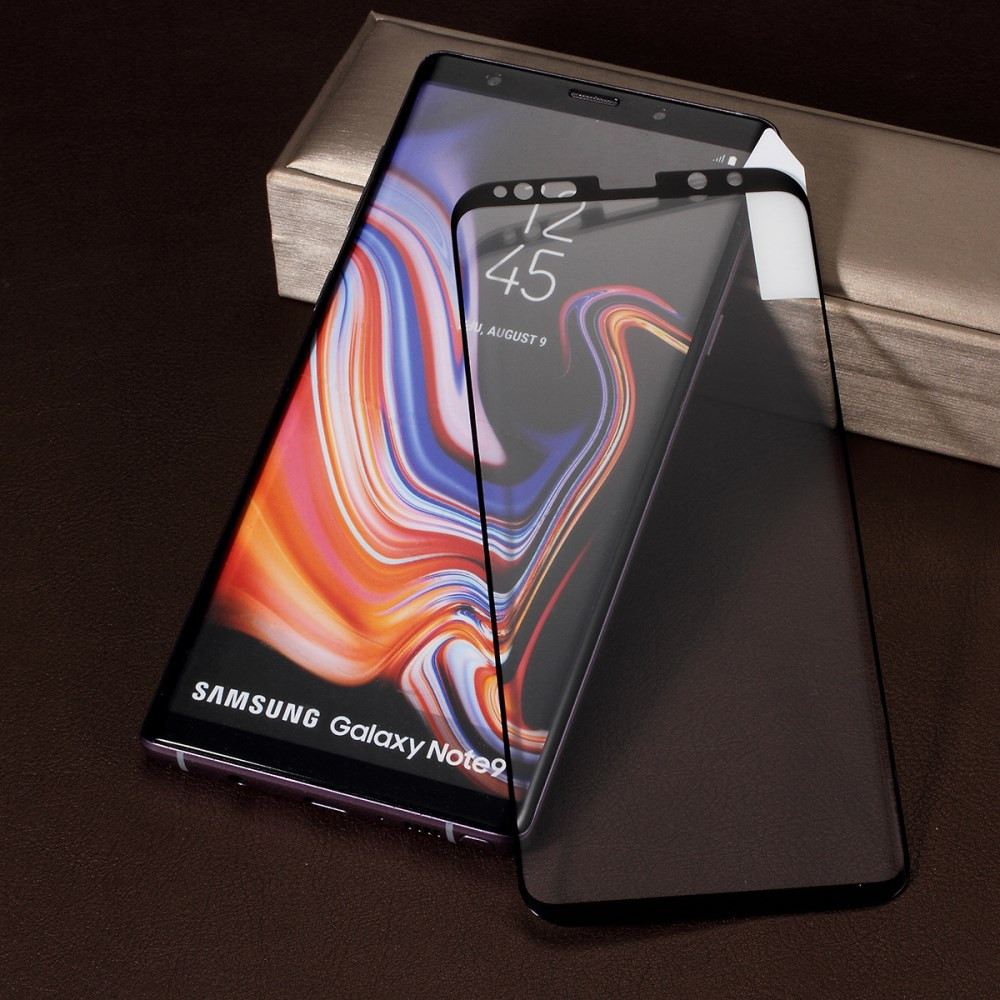 SAMSUNG GALAXY NOTE 9 KALJENO STEKLO FIT S POTISKOM ČRN - FULL GLUE