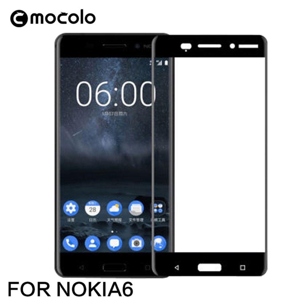 NOKIA 6 (2017) MOCOLO FIT KALJENO STEKLO S POTISKOM ČRN